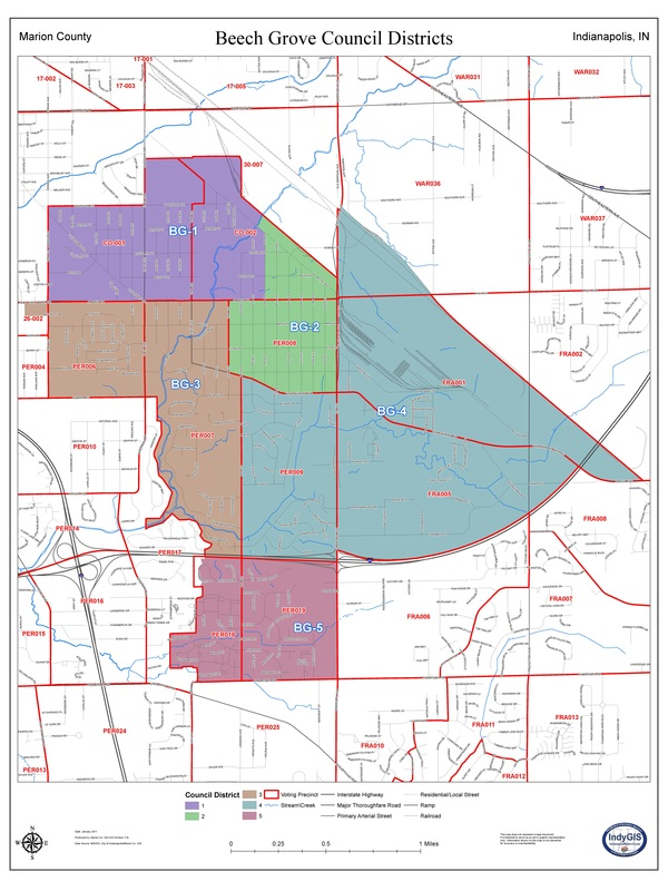 Council District Map   CITY OF BEECH GROVE, IN